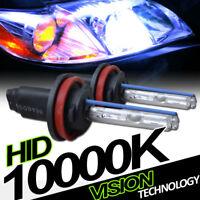 10000K Hid Xenon H11 Low Beam Headlights Headlamps Bulbs Pair Conversion Kit Vg7