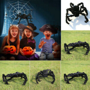 Hairy Giant Spider Decoration Halloween Prop Haunted House Party Decor-