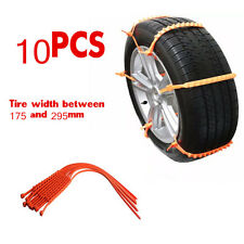 Universal Snow Tire Chain Car Truck Wheel Tire Antiskid Chains Slip Chains 10pcs