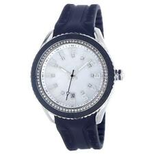 ORIGINAL T10 MARACUJA WATCH IN SILICON , 3 SPHERES AND STRASS T10-C009B,BLUE