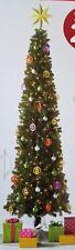 NEW 9 FOOT Pre-Lit SLIM Alberta Spruce Christmas Tree Clear Lights PreLit