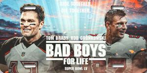 Tom Brady Rob Gronkowski Tampa Bay Bucs Super Bowl Bad Boys Poster License Plate