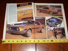 1968 FORD MUSTANG GT/CS CALIFORNIA SPECIAL - ORIGINAL 1990 ARTICLE