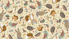 Doodle Days WOODLAND FRIENDS cotton fabric Size 55 cm x 50 cm larger available