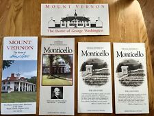 Vintage 1980s Era Mount Vernon / Monticello Travel Brochures *Collectibles*