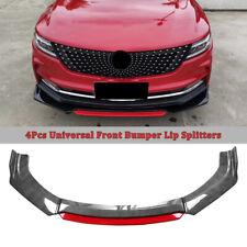Universal Car Front Bumper Lip Spoiler Splitter Body Kits 2 Layer Carbon Fiber