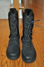 NWOB!! Womens ATWELL Black Suede Leather Shearling Boots Size 7