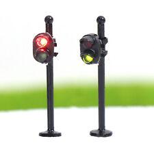 JTD1505RG 5pcs Traffic Signals N Scale Crossing LED Crosswalk Signal Road Street