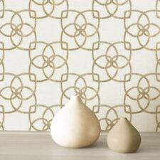 MARRAKECH GEOMETRIC WALLPAPER GOLD / CHAMPAGNE - MURIVA 701370 METALLIC