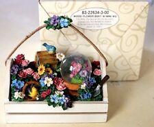 San Francisco Music Box Company Flower Basket w/Mini Snow Globe You Light Up