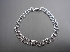 "9.2g 8"" Long #Ms637 Sterling Silver *Double Curb Bracelet*"