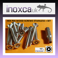 10 3.5 x 13 mm Stainless Steel torx t15 tx15 Broche Wood Screw Countersunk Csk C//S