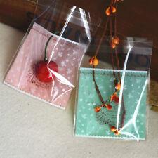 20 PCS Cellophane Bakery Bag Vintage Flower Self-Adhesive BG015