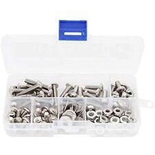 New listing BinifiMux 110pcs 10-32 Pan Phillips Screws Hex Nuts Flat Washers Assortment Kit,