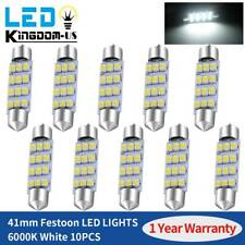 10x LED 12SMD 42MM 211 Festoon Courtesy Interior Dome Light Bulb 6000K White 578