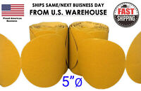 "5"" Sanding Disc Sandpaper 100 Roll PSA Sticky Back Grit 60-800 Sand Paper 80 320"
