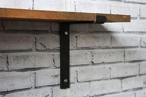 Metal Shelf Brackets Heavy Duty Scaffold Board Industrial Rustic Steel(Set of 2)