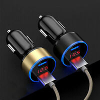 2-Ports 3.1A USB Car Cigarette Charger Lighter Digital LED Voltmeter Accessories