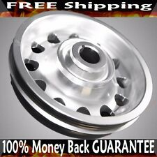 SILVER Crank Pulley for D SERIES SOHC 92-95 Civic 93-95 Civic Del Sol