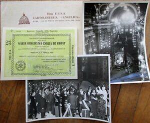 Vatican Canonization 1950 Certificate & Photographs-Maria Guglielma Emilia Rodat
