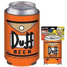The Simpsons Licensed DUFF Beer Can COOLER Cozy Keep It COLD! Looks Animated!