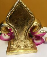 """French Style Gold Fleur De Lis Home Decor Accessory Paperweight or Statue 6.5"""" H"""