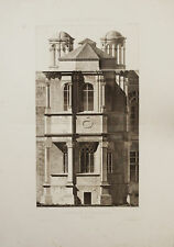 St Saturnin FONTAINEBLEAU - Incisione Originale 1800 Pfnor Obermayer