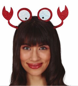 Crab Mermaid Octopus Headband Adults Fancy Dress Under The Sea Ocean Costume