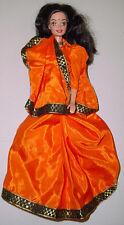 MATTEL BARBIE India IMPORT Indian Barbie in Orange Sari Malaysia