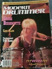 Modern Drummer magazine Gregg Bissonette APRIL 91