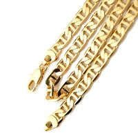 """Men's Necklace Stud Chain 24""""Link Unique 18k Yellow Gold Filled Fashion Jewelry"""