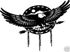 EAGLE AND SPEAR TRIBAL INDIAN DESIGN CAR DECAL STICKER