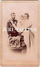 1896 Imperial RUSSIA Tsar NICHOLAS II Empress ALEXANDRA with OLGA Original CDV