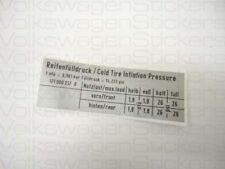VW MK1 Golf Tyre Pressure Sticker 257 B