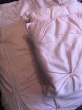 Pottery Barn Kids Queen Comforter, Full Comforter Two Pillow Girls Pink Pintuck