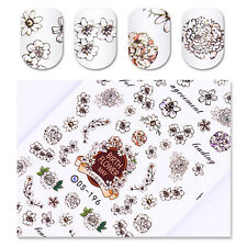 Blume Nagel Tattoo Nail Art Water Decals Aufkleber Transfer Flower Sticker