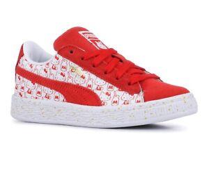 Puma Suede Classic x Hello Kitty Bright Red 366464 01 Preschool Sneakers