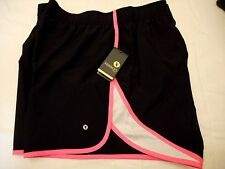 Women's Xersion Quick Dri Athletic Shorts Black Pink Size OX NEW