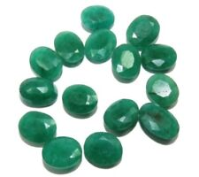 EMERALD 12 x 10 MM OVAL CUT 6 PIECE SET CALIBRATED BEAUTIFUL GREEN COLOR