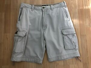 Abercrombie & Fitch Mens Beige Cargo Shorts Waist Size 36 - Good Condition