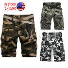 2017 Summer Mens Casual Bermuda Camouflage Pants Army Military Baggy Shorts Pant