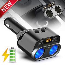 80W Car Charger Dual USB Cigarette Lighter Splitter Socket Converter Adapter 1PC