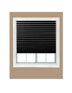 Cut-to-Size Black Cordless Blackout Shades