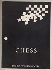 """Chess""  London  Playbill  1987  Siobhan McCarthy, Tommy Korberg, Kevin Colson"
