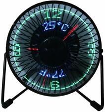Mini USB Tilting Metal Desktop Cooling Fan with Real Time LED Clock Display
