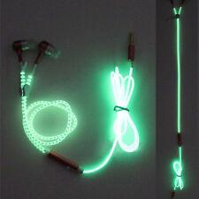 Hot 1PCS Light Headphones Earphones Headset Luminous zipper In-Ear headphone UK
