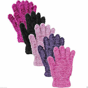 3X LADIES WOMENS FEATHER TOUCH GIRLS FLUFFY COSY MAGIC WINTER WARM GLOVES