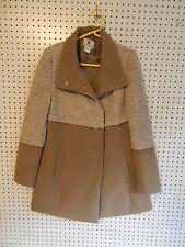 Womens Worthington wool coat - brown - medium