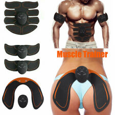 8PC Electric Muscle Toner EMS Simulator Wireless Belt ABS Butt Trainer ##ELINK