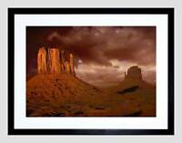MONUMENT VALLEY ARIZONA GRAND CANYON USA BLACK FRAMED ART PRINT PICTURE B12X9632